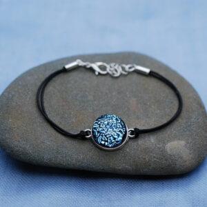 bransoletka-recznie-robiona-pojedyncza-mala-srebrzysto-niebieski