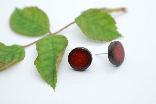kolczyki-sztyfty-okragle-czerwony-5-bizuteria-ceramiczna-zizuza