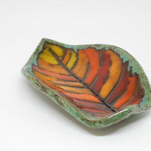 miseczka-listek-pomaranczowy-ceramika-rekodzielo