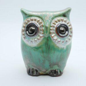 sowka-mala-srebrzysty-zielony-figurki-ceramiczne-sklep-internetowy-zizuza