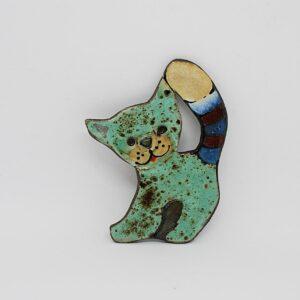 zawieszka-kotek-mniejszy-oproszony-turkus-ceramika-sklep-z-rekodzielem-zizuza
