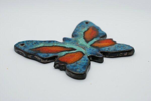 zawieszka-motylek-turkusowy-ceramika-rekodzielo-zizuza