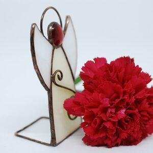 aniolek-stojacy-bialo-czerwony-aniolek-witrazowy-sklep-z-rekodzielem-zizuza