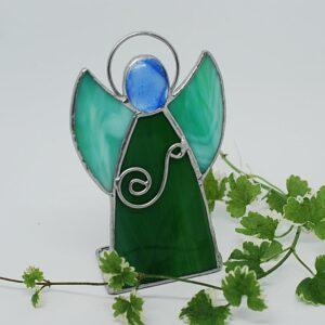 aniolek-stojacy-zielony-sklep-z-rekodzielem-artystycznym-ozdoby-witrazowe