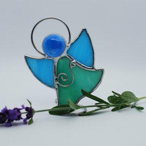 aniolek-tanczacy-zielono-niebieski-rekodzielo-aniolek-witrazowy-pracownia-artystyczna