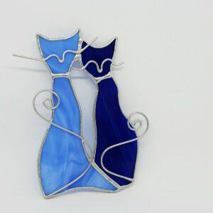 kotki-parka-niebiesko-granatowy-dekoracja-witrazowa-rekodzielo