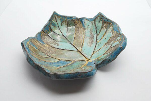 miseczka-listek-zielony-turkusowy-ceramika-uzytkowa-rekodzielo-naczynia-zizuza