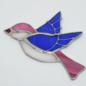 ptaszek-rozowo-niebieski-ozdoby-witrazowe-rekodzielo-zizuza