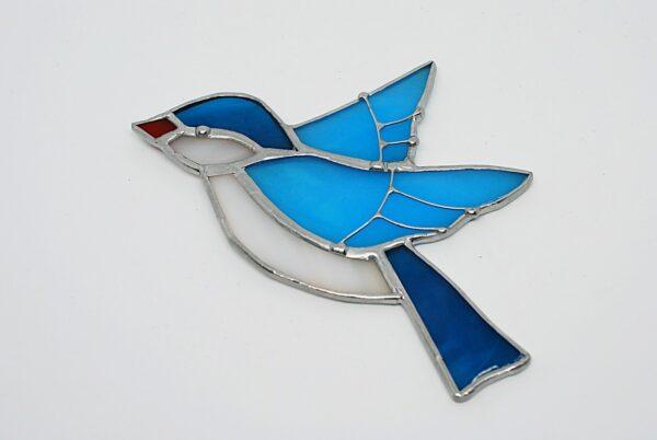 ptaszek-wiszacy-niebieski-witrazowa-dekoracja-rekodzielo-artystyczne-zizuza